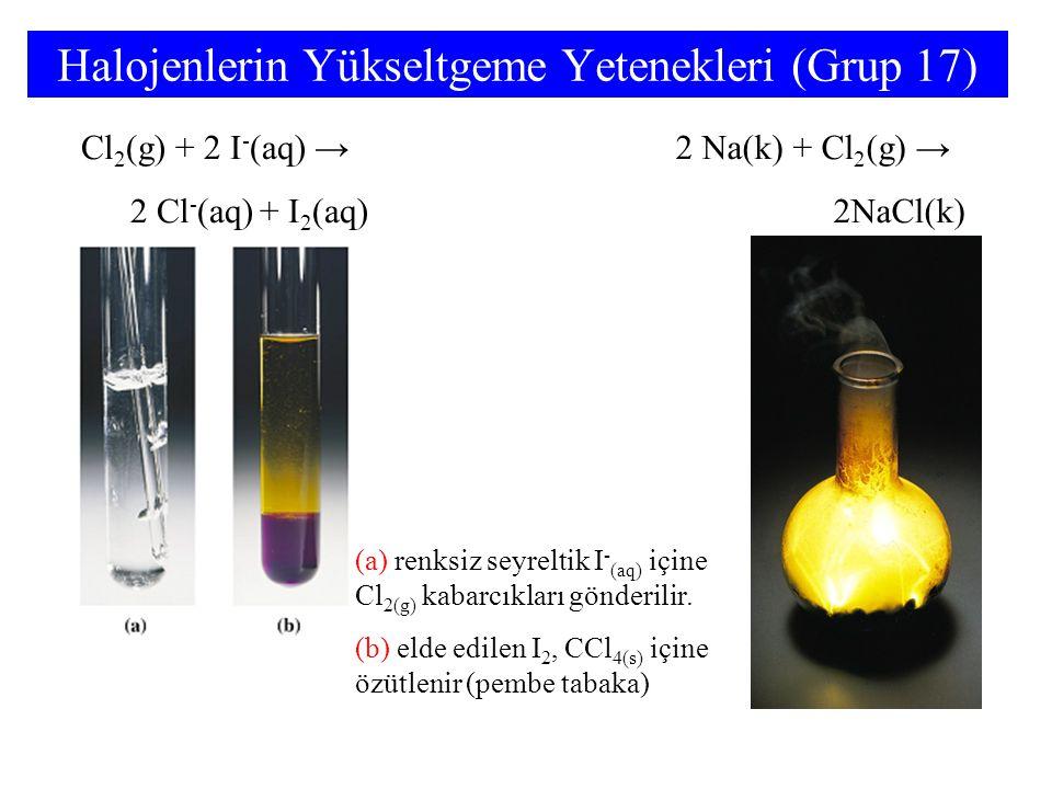 Halojenlerin Yükseltgeme Yetenekleri (Grup 17)