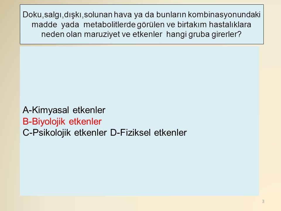 C-Psikolojik etkenler D-Fiziksel etkenler