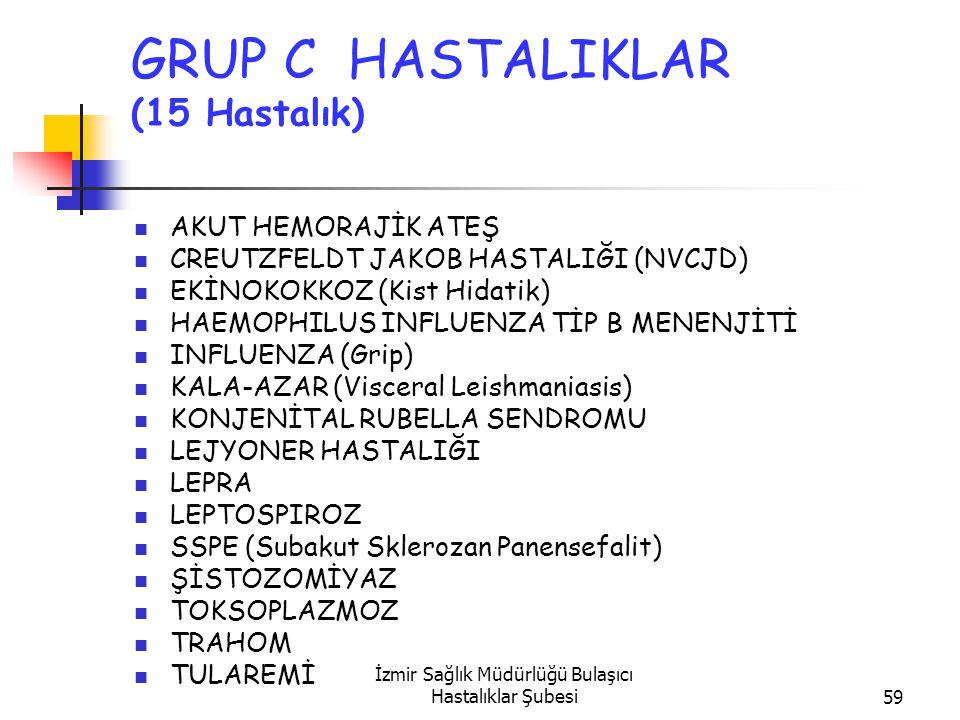 GRUP C HASTALIKLAR (15 Hastalık)
