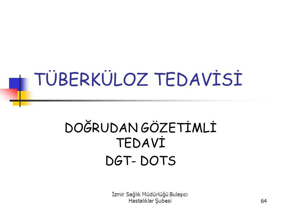 DOĞRUDAN GÖZETİMLİ TEDAVİ DGT- DOTS