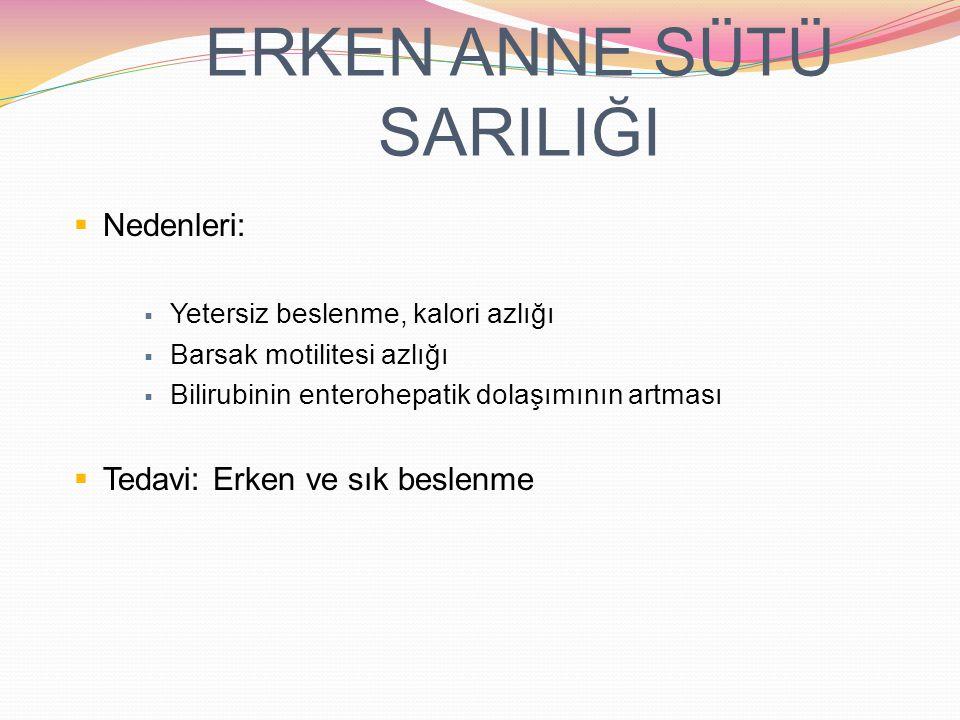 ERKEN ANNE SÜTÜ SARILIĞI