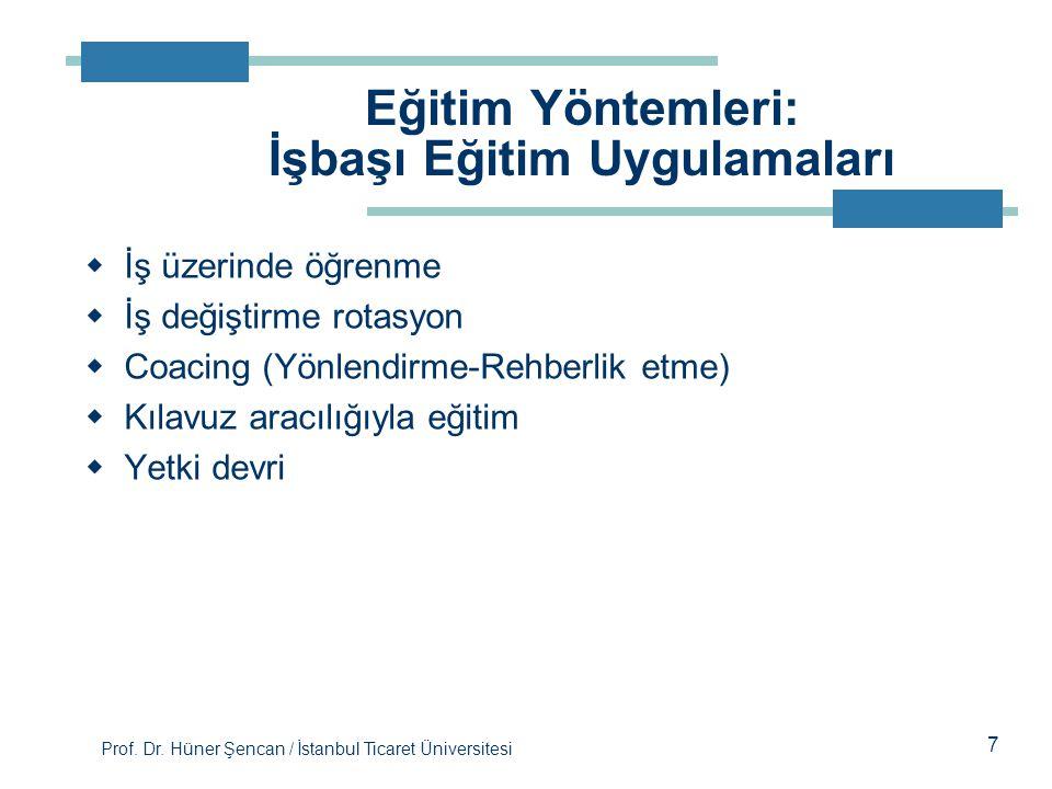 Eğitim Yöntemleri: İşbaşı Eğitim Uygulamaları