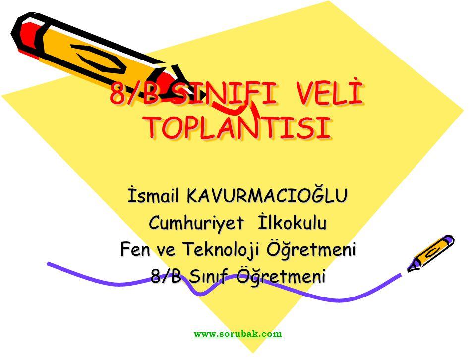 8/B SINIFI VELİ TOPLANTISI