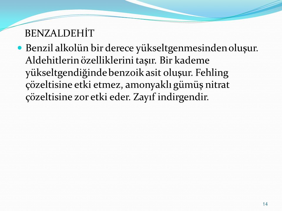 BENZALDEHİT