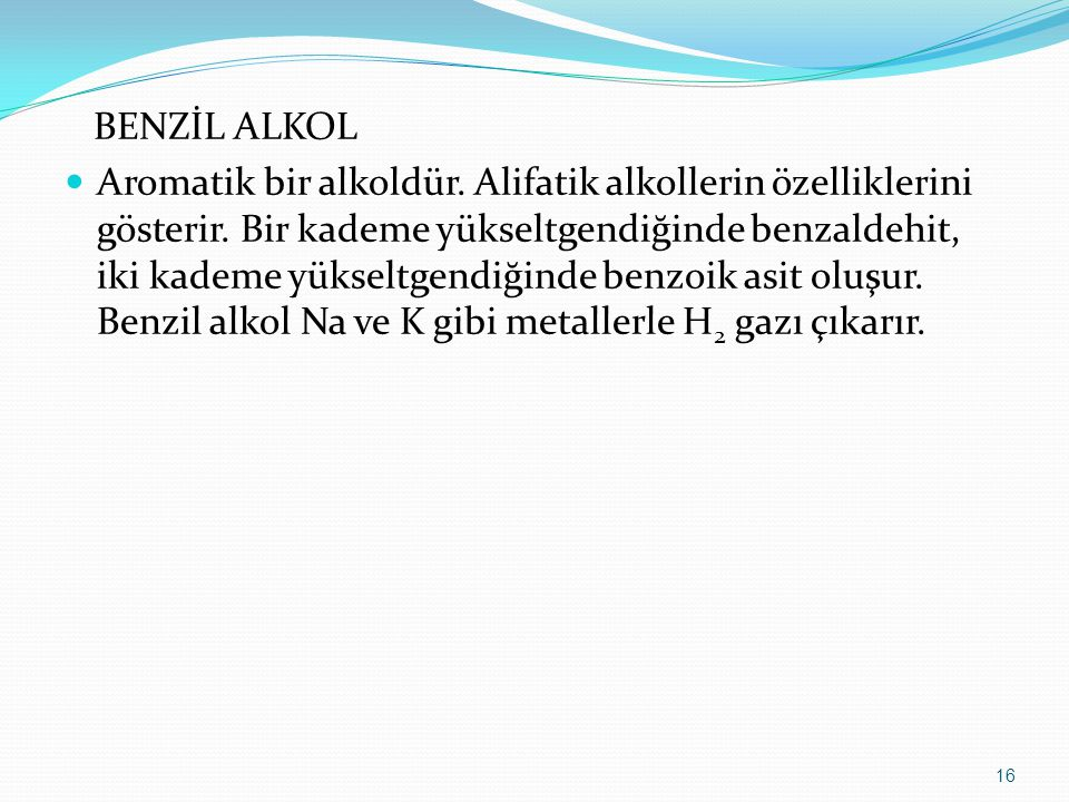 BENZİL ALKOL