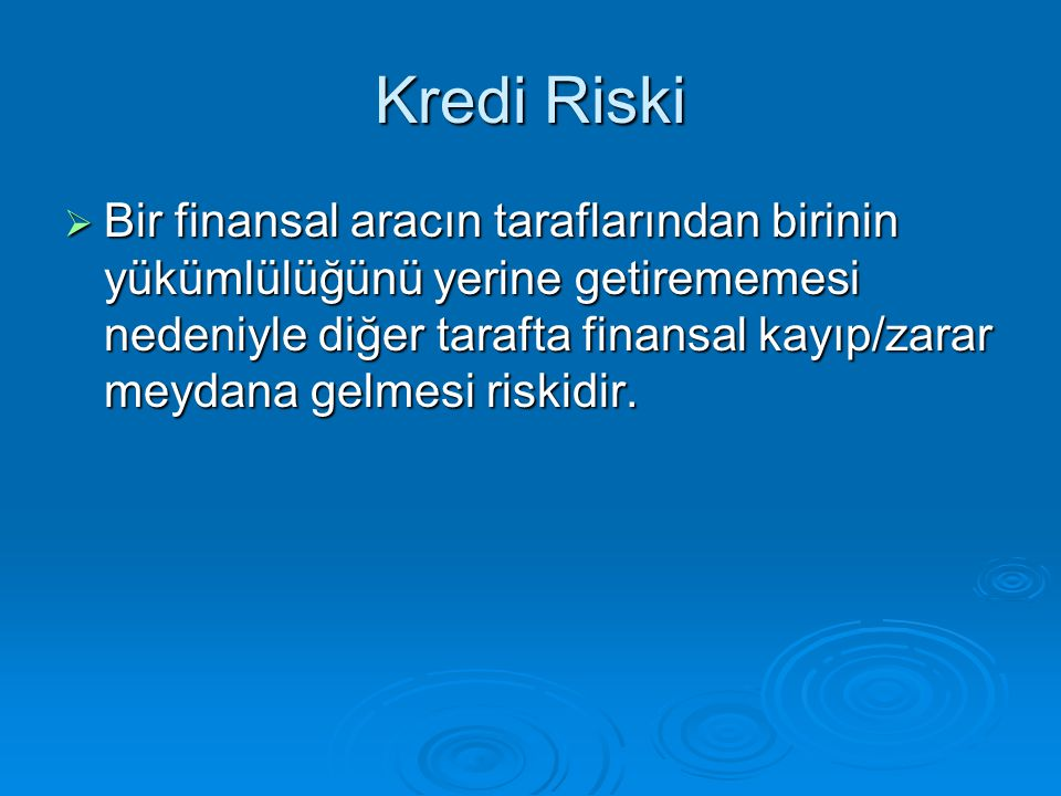 Kredi Riski