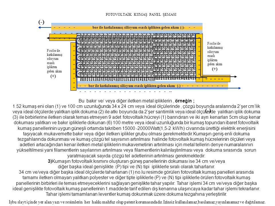 Bu bakır ve/ veya diğer iletken metal ipliklerin , örneğin ;