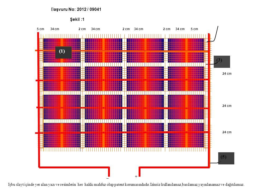 (3) (5) Başvuru No: 2012 / 09041 Şekil :1 (1) _ +