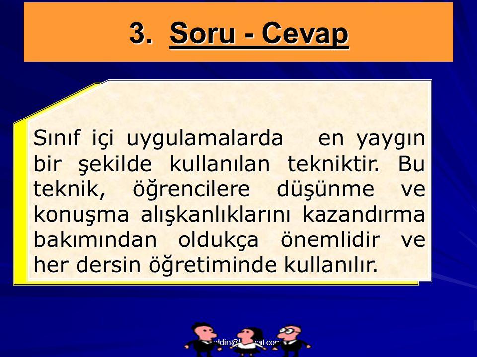 3. Soru - Cevap
