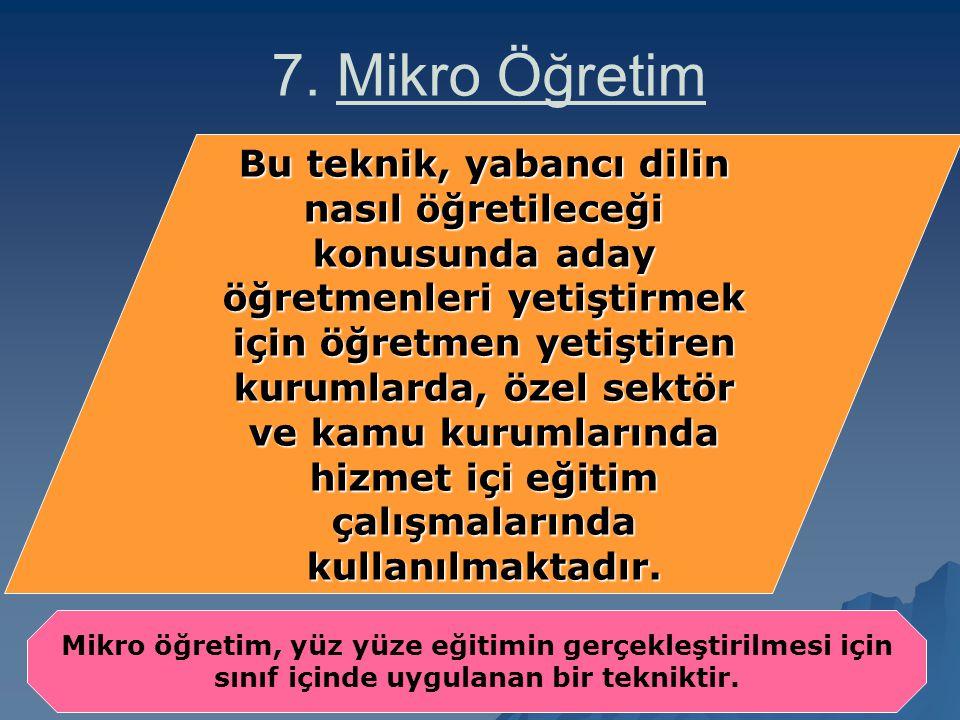 7. Mikro Öğretim