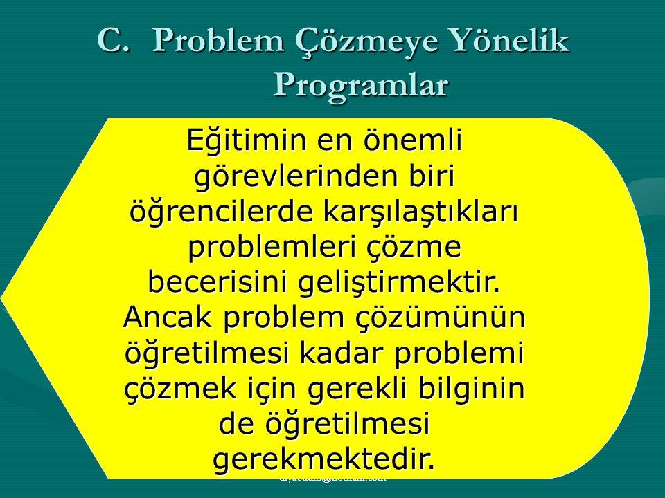 Problem Çözmeye Yönelik Programlar