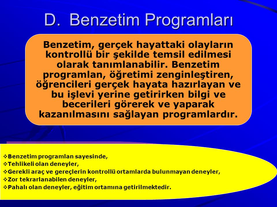 Benzetim Programları