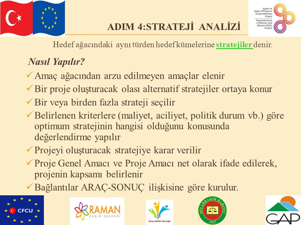 ADIM 4:STRATEJİ ANALİZİ