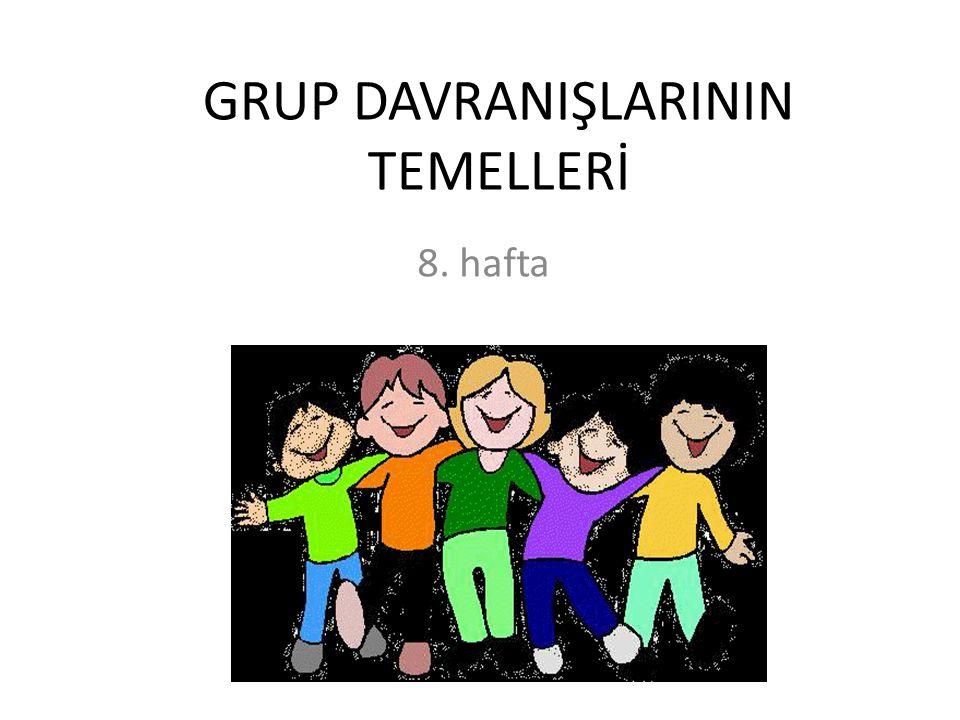 GRUP DAVRANIŞLARININ TEMELLERİ