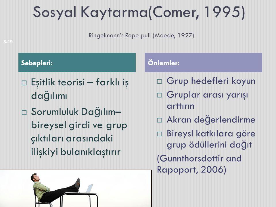 Sosyal Kaytarma(Comer, 1995) Ringelmann's Rope pull (Moede, 1927)