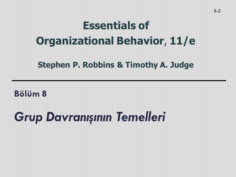 Bölüm 8 Grup Davranışının Temelleri