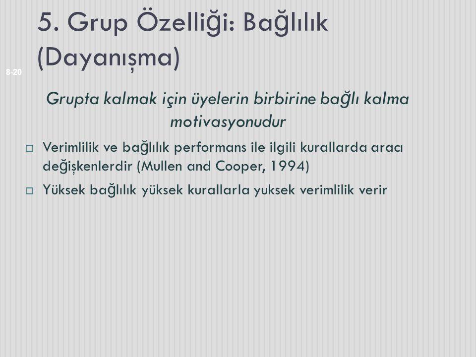 5. Grup Özelliği: Bağlılık (Dayanışma)
