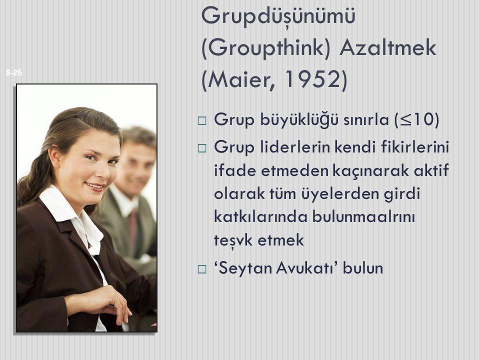 Grupdüşünümü (Groupthink) Azaltmek (Maier, 1952)