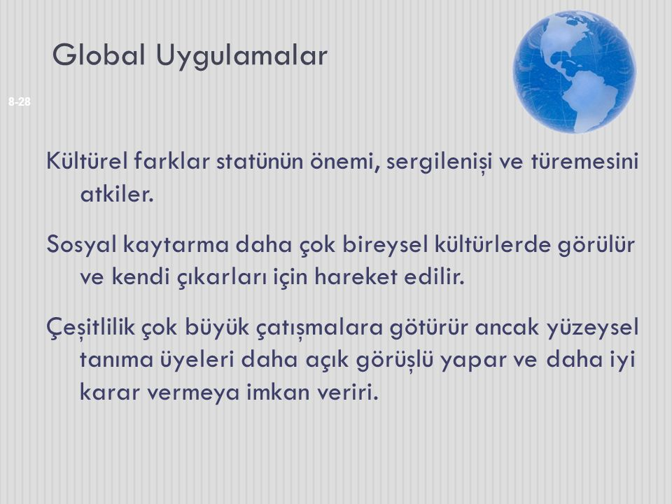 Global Uygulamalar