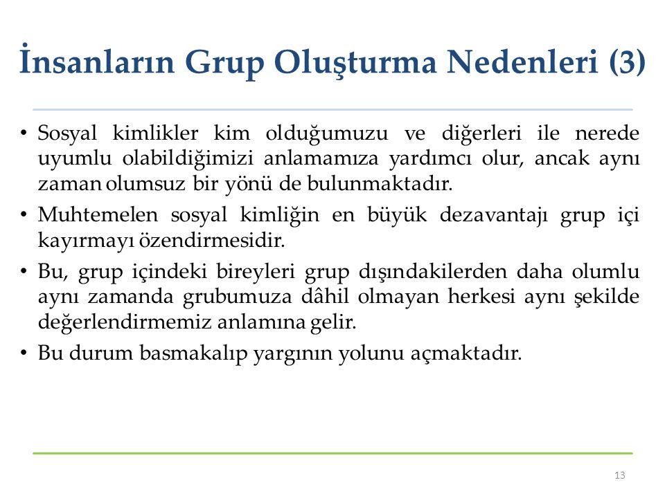 İnsanların Grup Oluşturma Nedenleri (3)