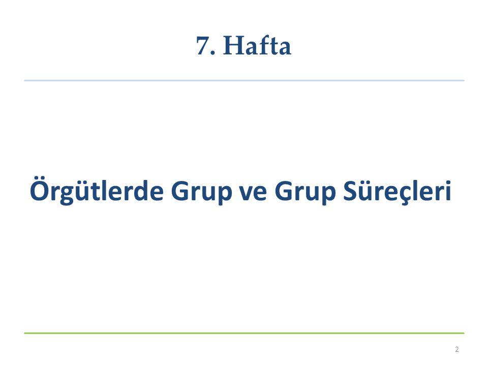 Örgütlerde Grup ve Grup Süreçleri