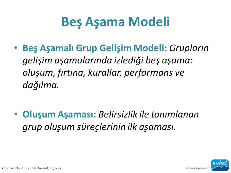 Beş Aşama Modeli
