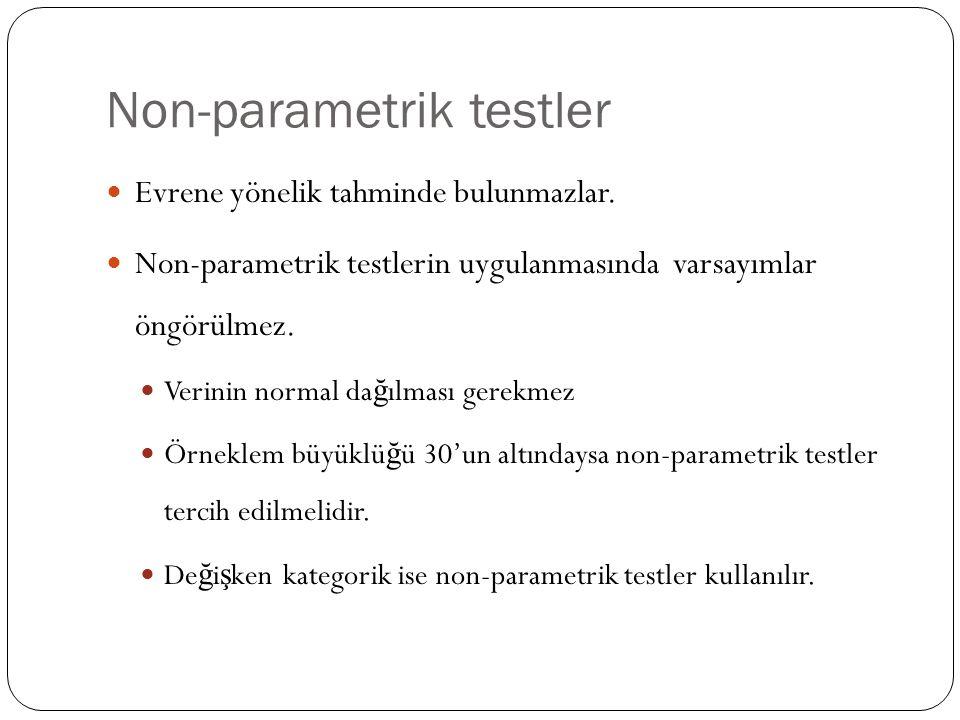 Non-parametrik testler