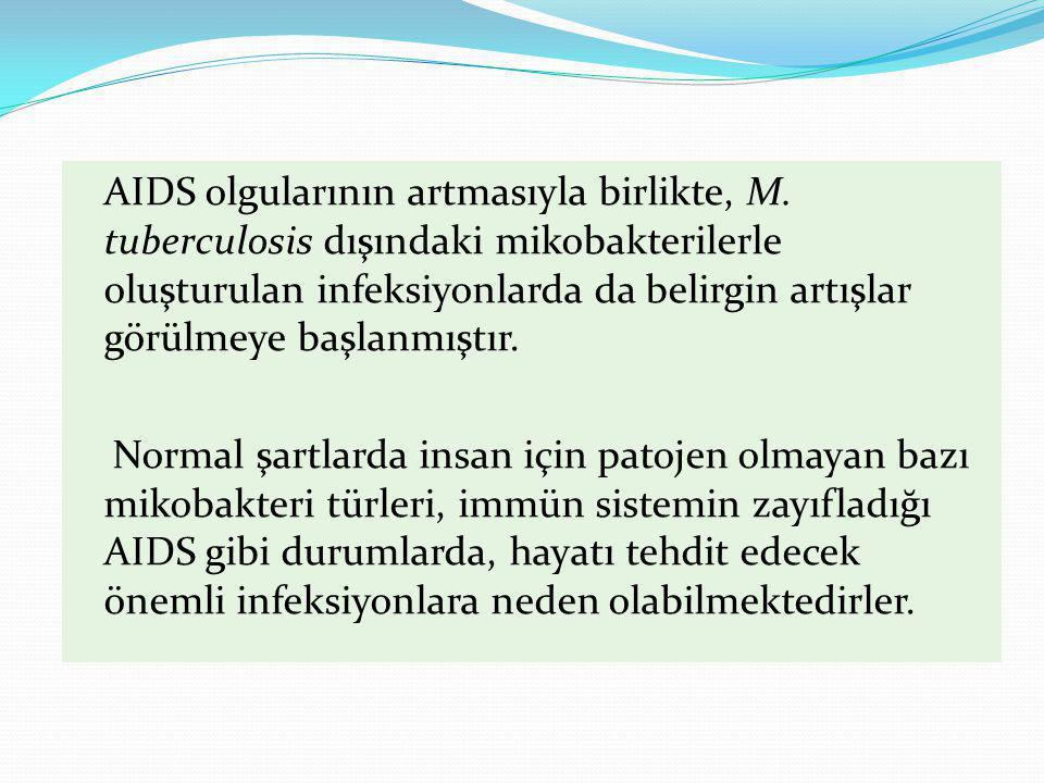 AIDS olgularının artmasıyla birlikte, M