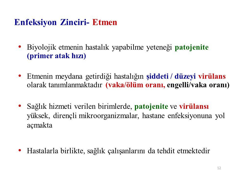 Enfeksiyon Zinciri- Etmen