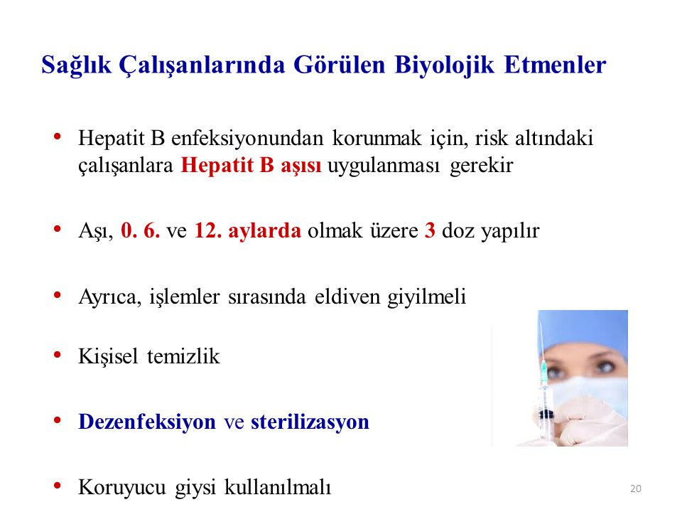 Sağlık Çalışanlarında Görülen Biyolojik Etmenler