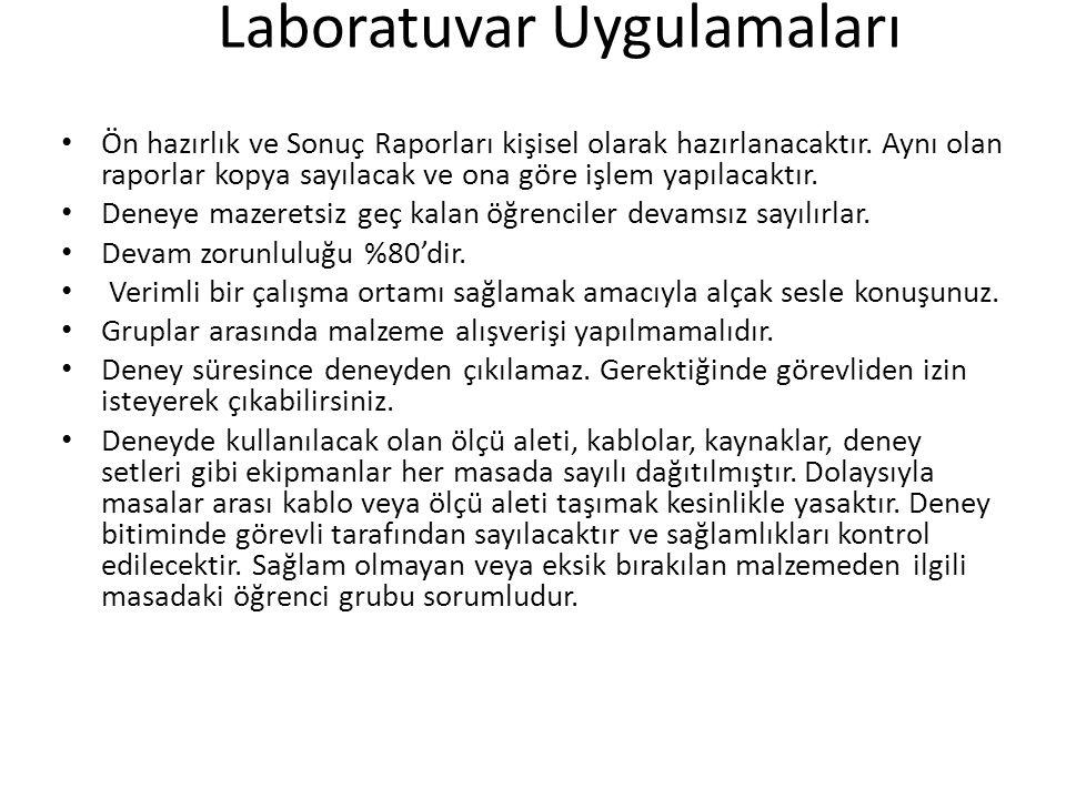 Laboratuvar Uygulamaları