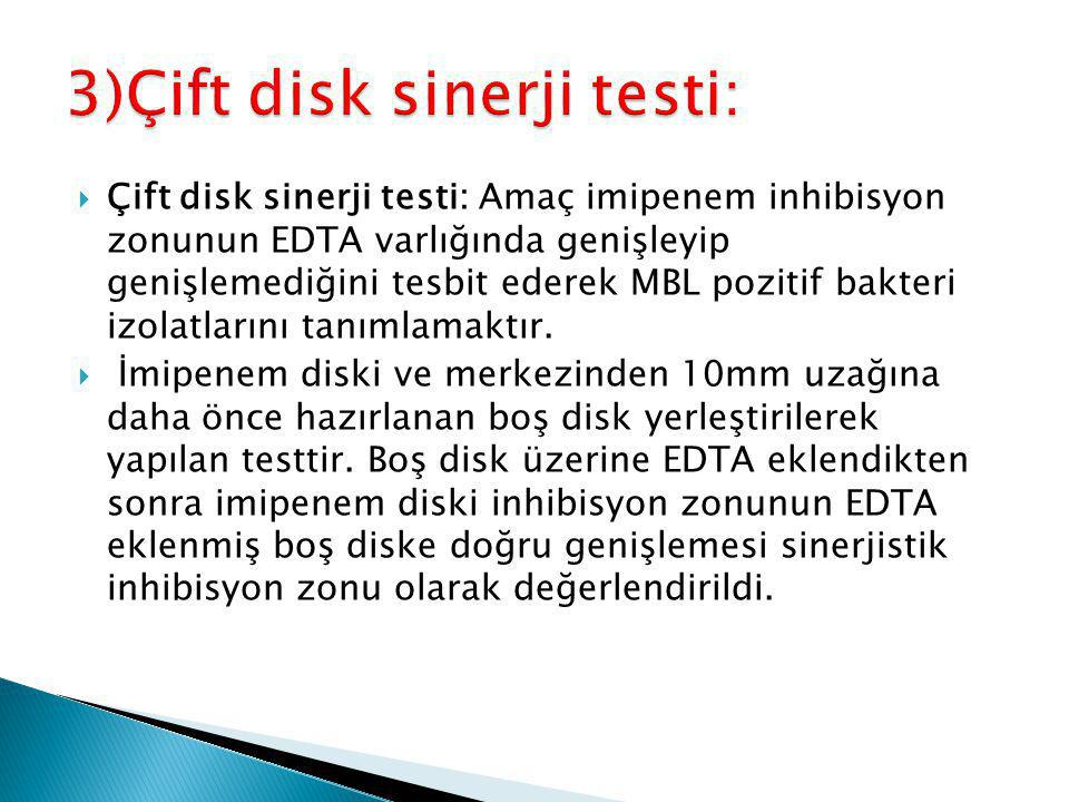 3)Çift disk sinerji testi:
