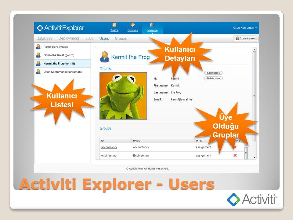 Activiti Explorer - Users