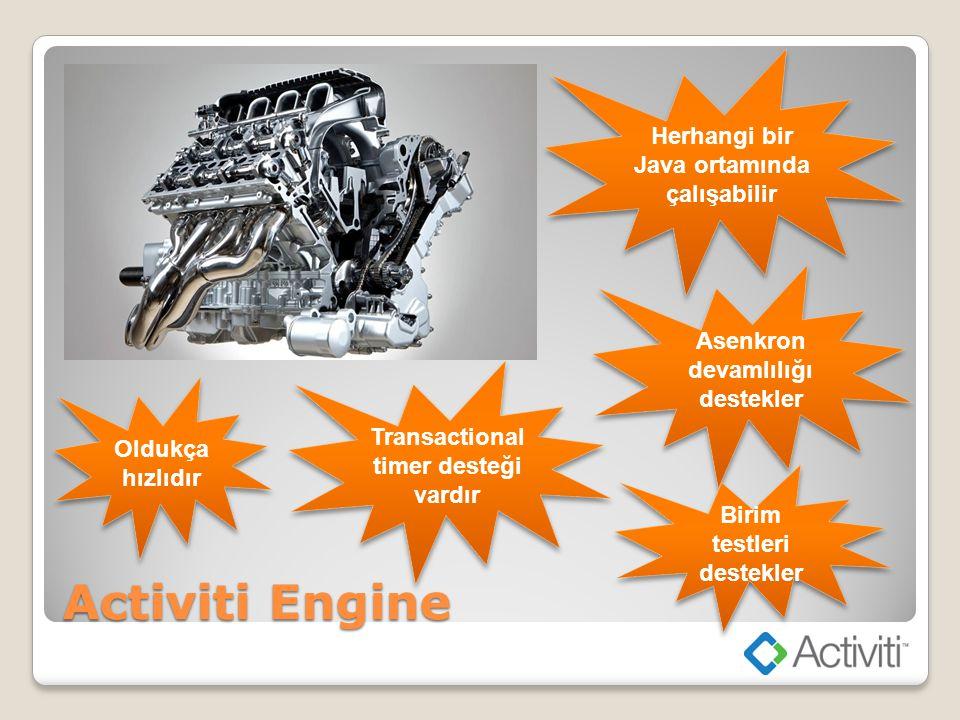 Activiti Engine Herhangi bir Java ortamında çalışabilir