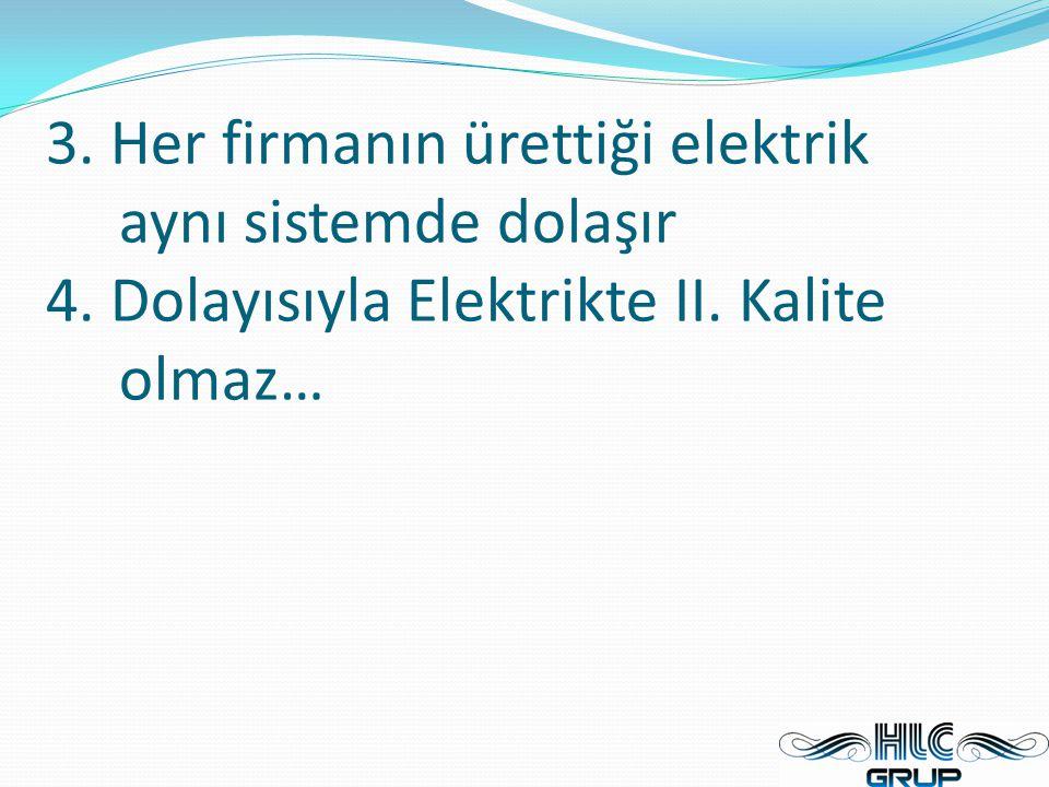3. Her firmanın ürettiği elektrik aynı sistemde dolaşır 4