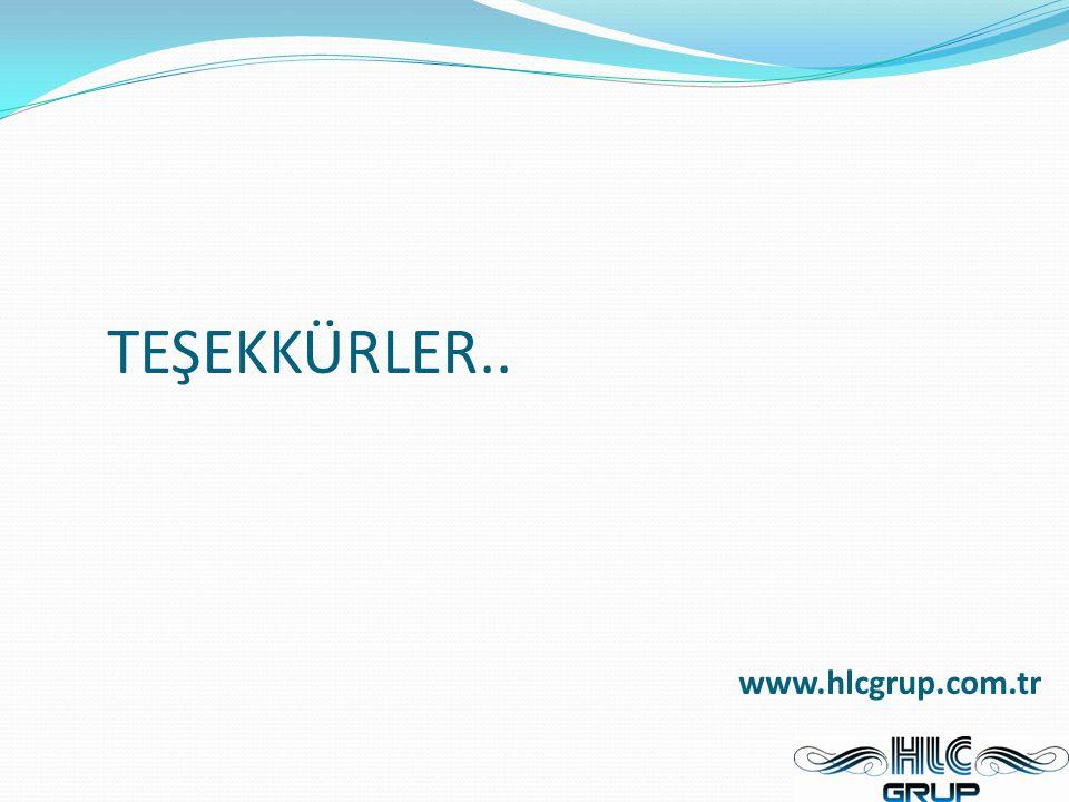 TEŞEKKÜRLER.. www.hlcgrup.com.tr