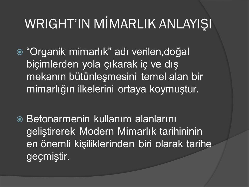 WRIGHT'IN MİMARLIK ANLAYIŞI