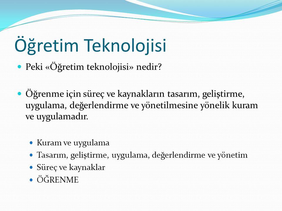Öğretim Teknolojisi Peki «Öğretim teknolojisi» nedir