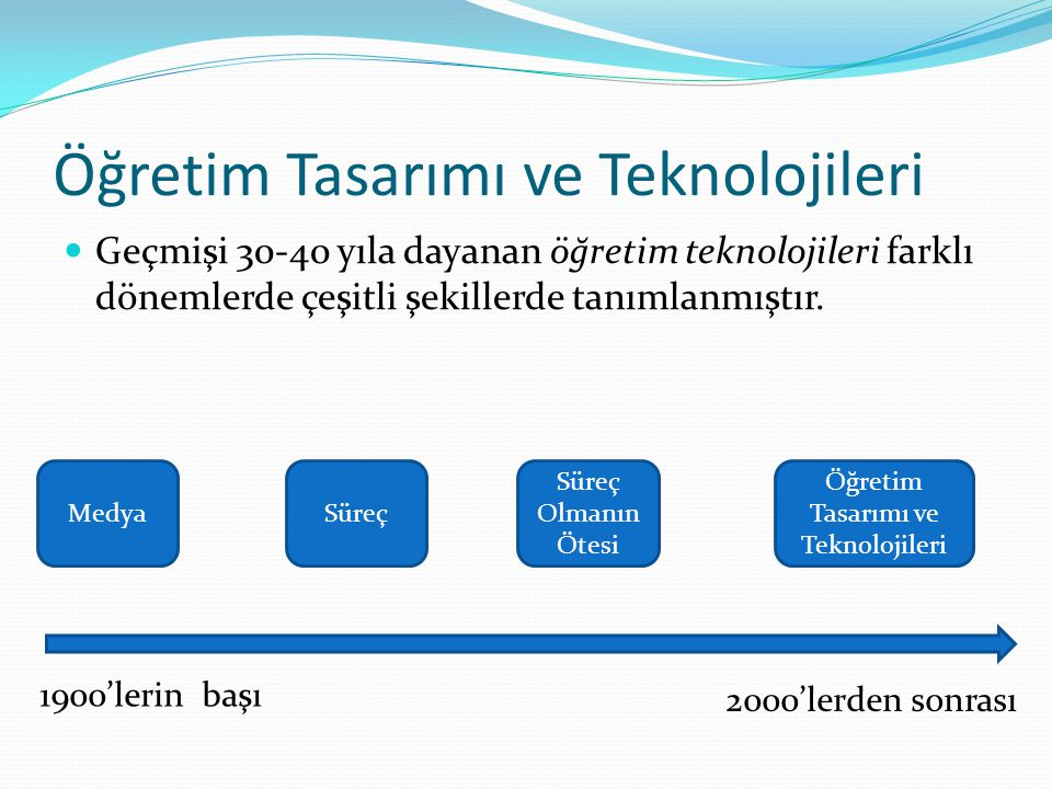 Öğretim Tasarımı ve Teknolojileri