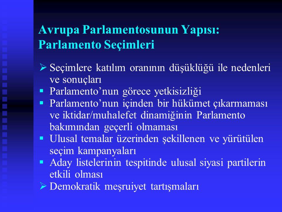 Avrupa Parlamentosunun Yapısı: Parlamento Seçimleri