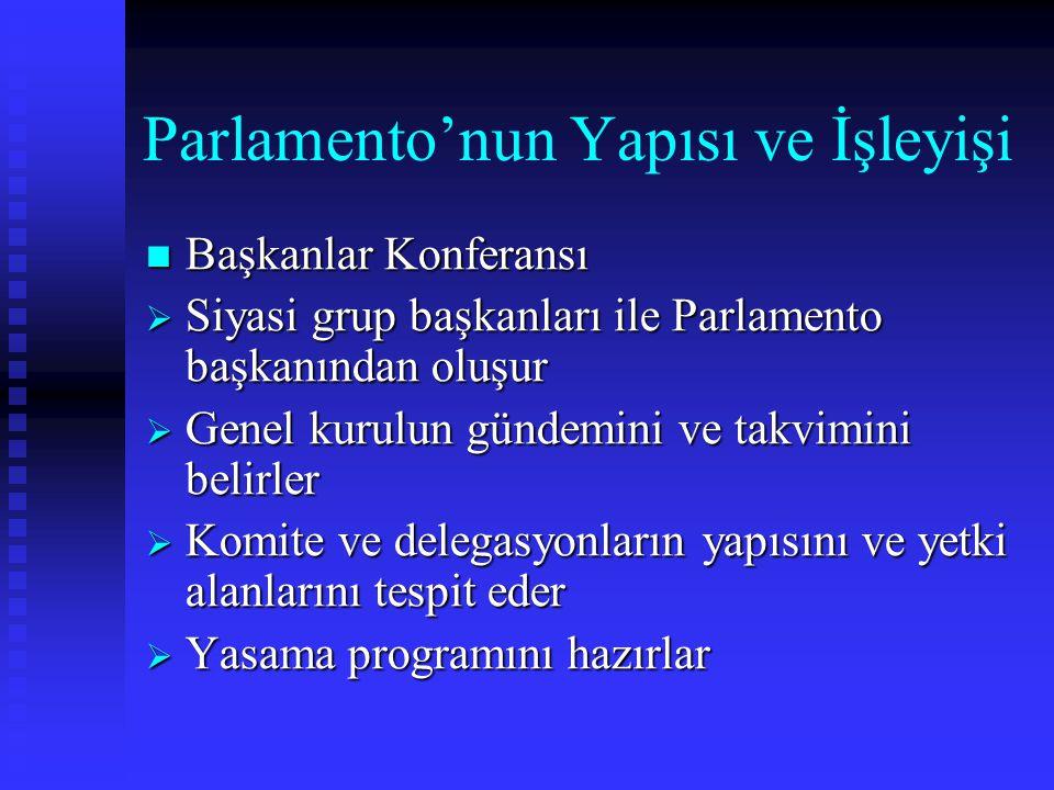 Parlamento'nun Yapısı ve İşleyişi