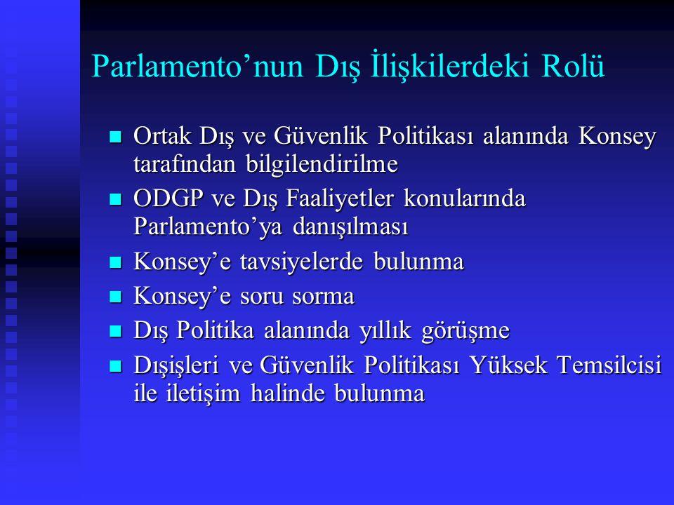 Parlamento'nun Dış İlişkilerdeki Rolü