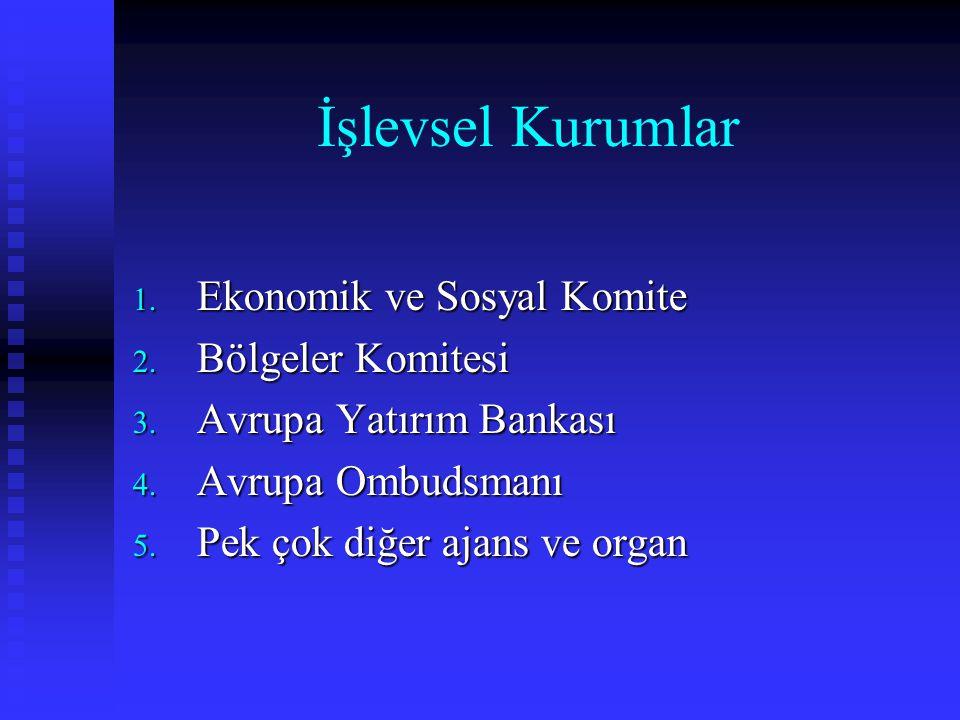 İşlevsel Kurumlar Ekonomik ve Sosyal Komite Bölgeler Komitesi