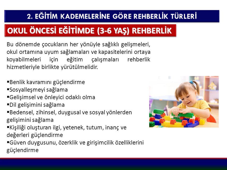 OKUL ÖNCESİ EĞİTİMDE (3-6 YAŞ) REHBERLİK