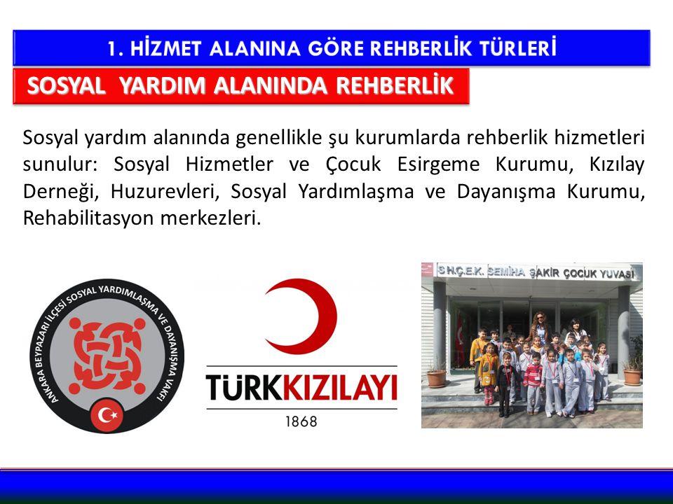SOSYAL YARDIM ALANINDA REHBERLİK