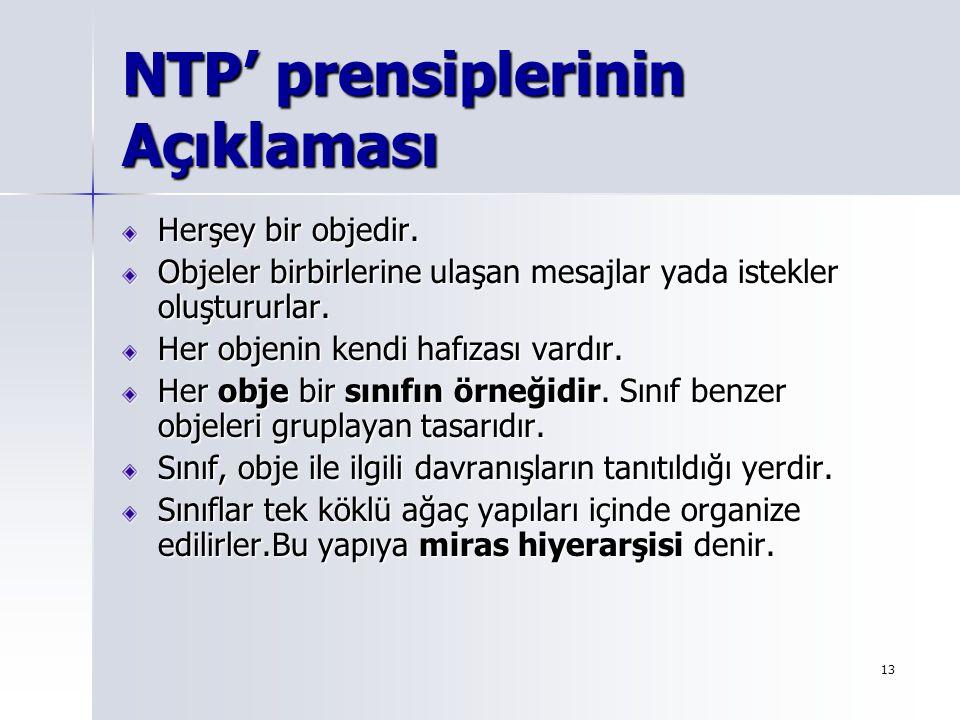 NTP' prensiplerinin Açıklaması
