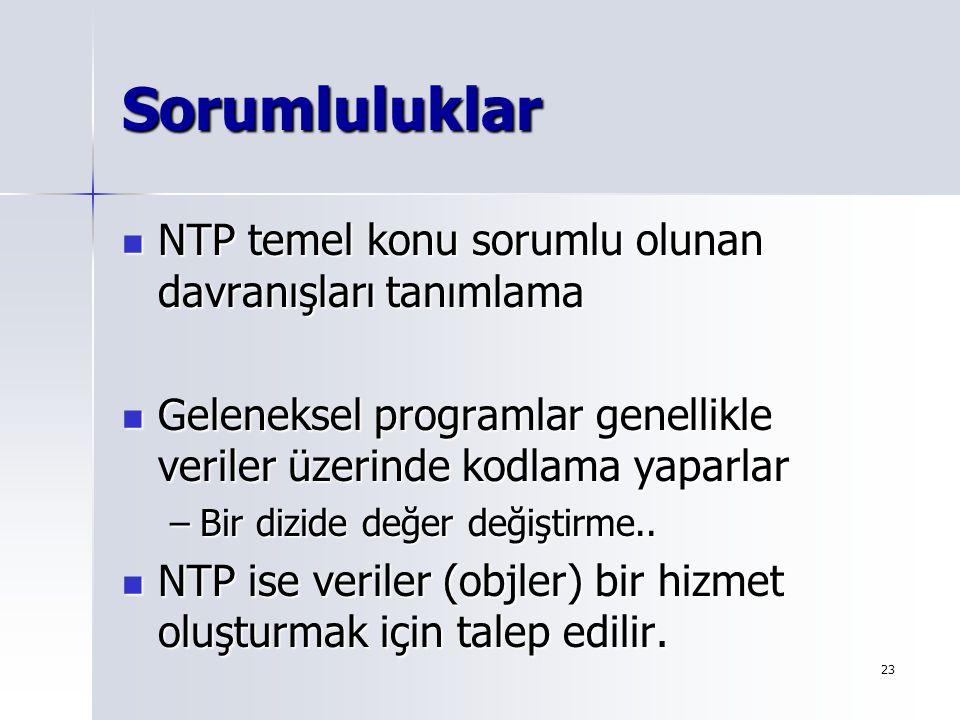 Sorumluluklar NTP temel konu sorumlu olunan davranışları tanımlama
