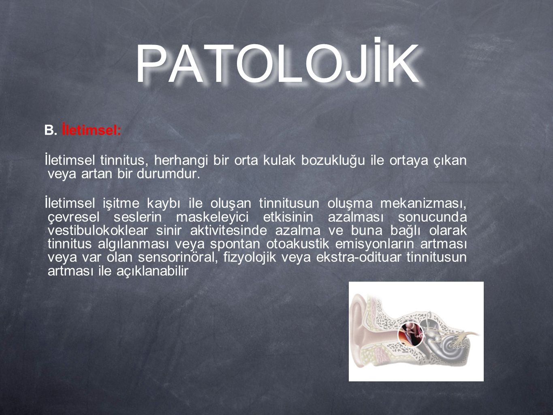 PATOLOJİK B. İletimsel: