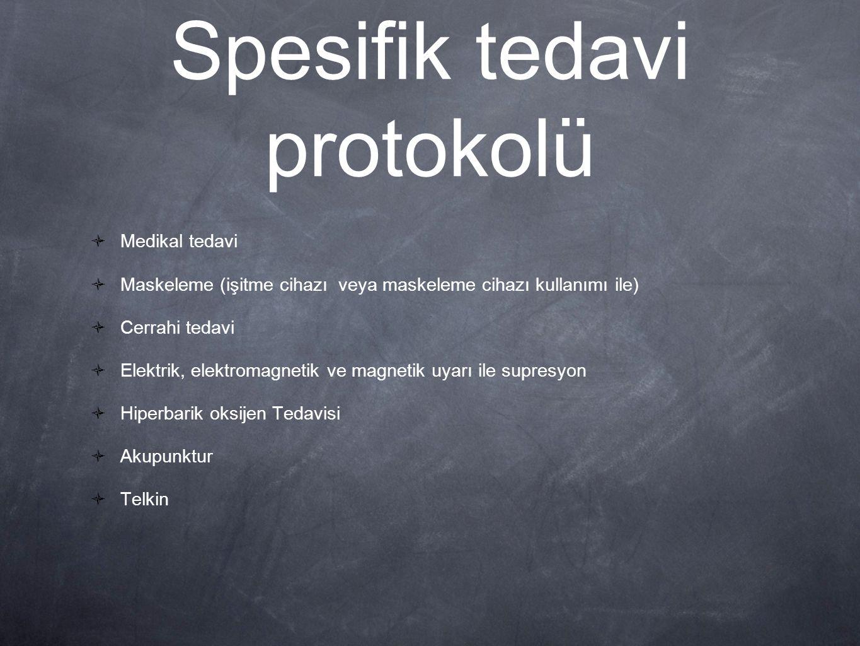 Spesifik tedavi protokolü