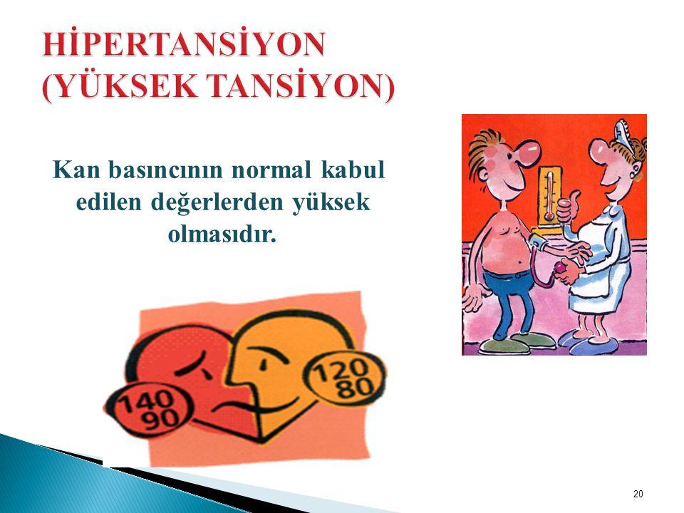 HİPERTANSİYON (YÜKSEK TANSİYON)